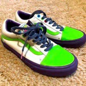 Vans X Toy Story Buzz Lightyear shoes